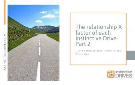 The relationship X factor of each Instinctive Drive 2