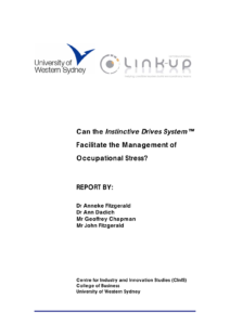 Can the Instinctive Drives System facilitate the management of occupational stress ?