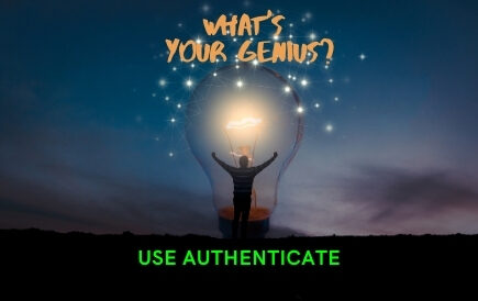 What's your genius? Use Authenticate