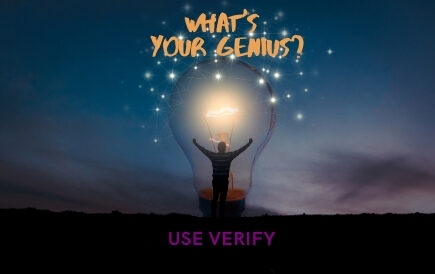 What's your genius? Use Verify